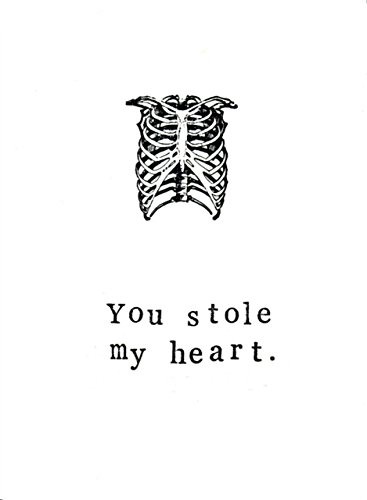 You Stole My Heart Funny Science Medical Valentine Card