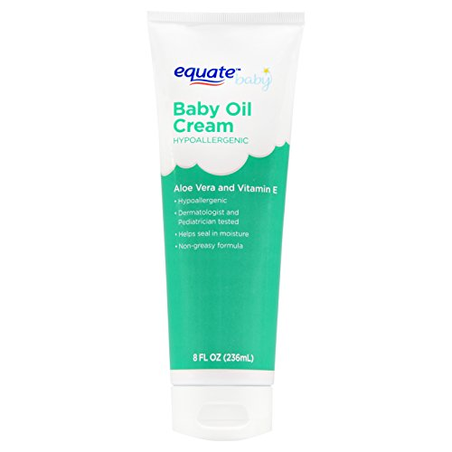 Equate Aloe & Vitamin E Baby Oil Cream 8 oz (Pack of 4)