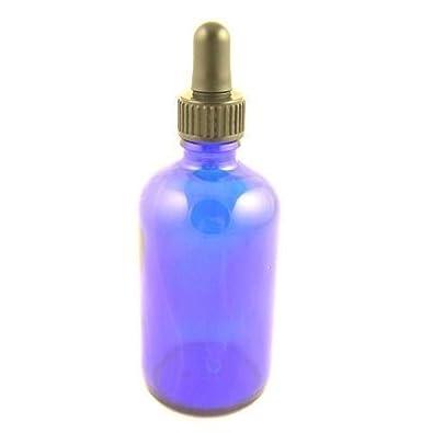 Botella Cristal Azul York con Rosca Pipeta 50ml