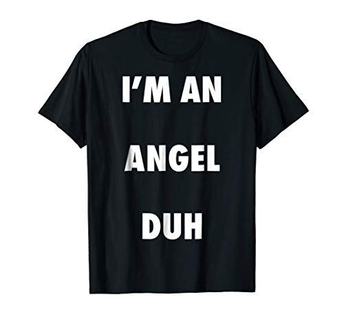 Easy Halloween Angel Costume Shirt for Men Women Kids