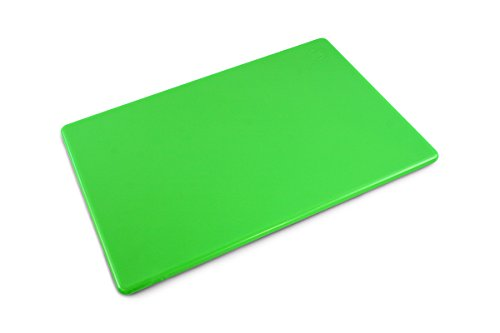 Commercial Plastic Cutting Board, NSF, 18 x 12 x 0.5 Inches, Green