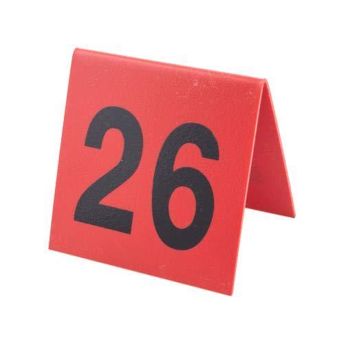 Cal Mil Number Tents - Cal-Mil 226-1 Break Resistant Number Tent, 3