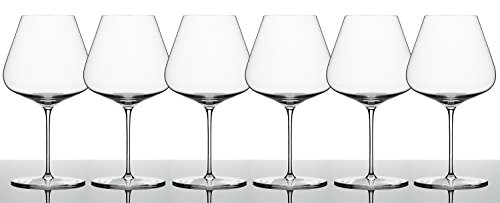 (Zalto Denk'Art Burgundy Wine Glass - Luxury Stemware - Espeically for Pinot Noir, Nebbiolo, Barbera, Chardonnay and Grünen Veltliner - Brings Out Fruit and Sweeter Notes (6-Pack))
