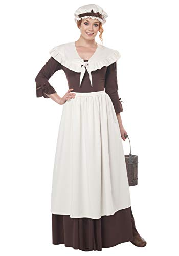 California Costumes Colonial Village Woman Adult Costume, Cream/Brown, X-Large