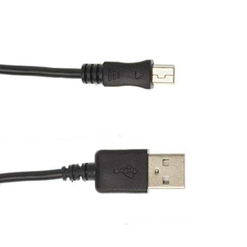 Kingfisher Technology – 2m Black USB Charger Charging Power and Data Sync Cable Adaptor (22AWG) Compatible with Garmin…