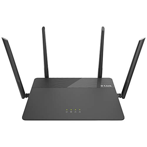 D-Link AC1900 Wireless WiFi Router - Smart Dual Band - MU-MIMO - Powerful Dual Core Processor - Fast Wi-Fi for Gaming and 4K Streaming - Reliable Coverage (DIR-878)