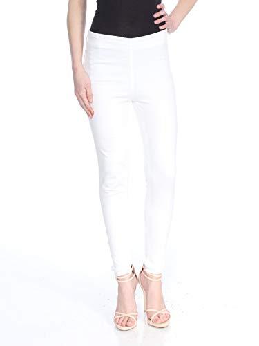 - Free People Womens Stretch Fringe Denim Skinny Jeans White 16