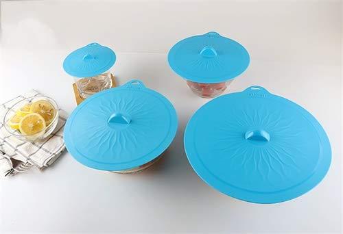 Juego de 4 tapas de silicona con ventosa para ollas, cuencos ...