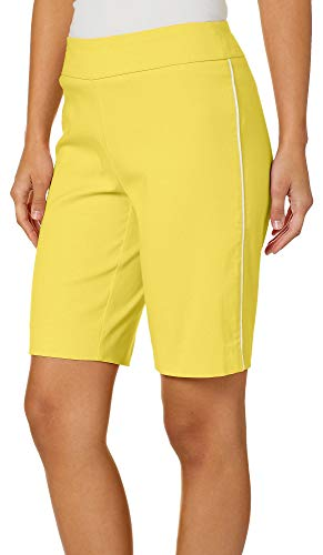 Counterparts Petite Side Piped Pull On Bermuda Shorts 8P -