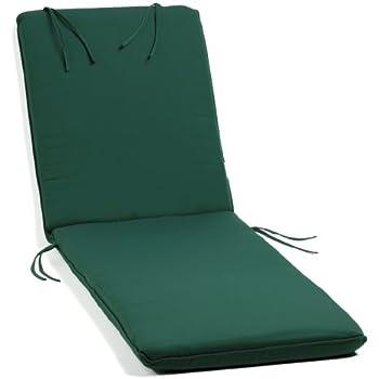 Amazoncom Oxford Garden Chaise Lounge Cushion Hunter Green