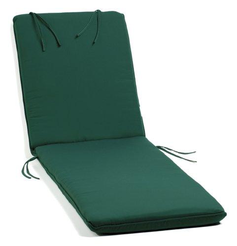 Oxford Garden Chaise Lounge Cushion, Hunter Green For Sale