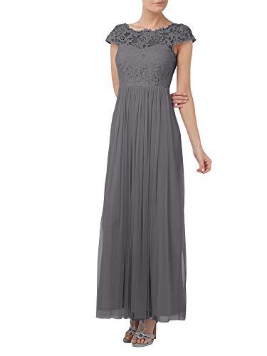 Brautmutterkleider Partykleider A Festlich La Rock Grau Lang Linie Braut Spitze Abendkleider Marie SnY4I