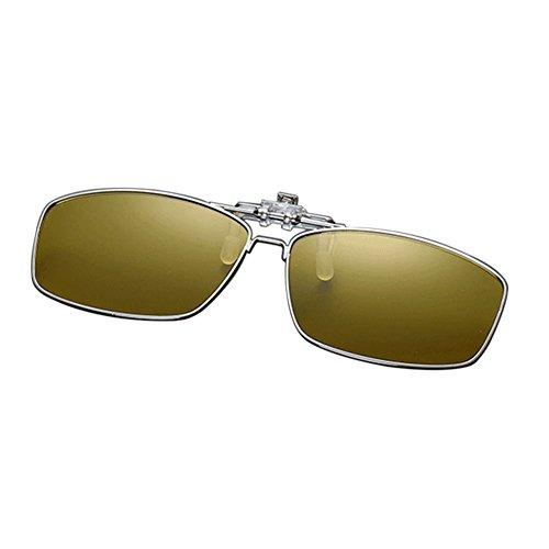 UV400 Xinvision Metal Gafas Reflejante Amarillo de Metálico Sol Portección Polarizadas Vintage Eyewear Mujer para Sunglasses Anti Hombre Rectangular Conducir AxPx0w