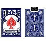 - Marked Maiden Back Bicycle Trick Playing Cards Poker Size Deck USPCC (Blue)