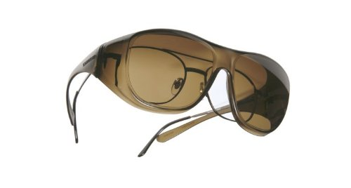 Lightguard Low Vision OveRx Sunglasses - Hazelnut Lens Size: Large, Fits over Prescription - Sunglasses Lightguard