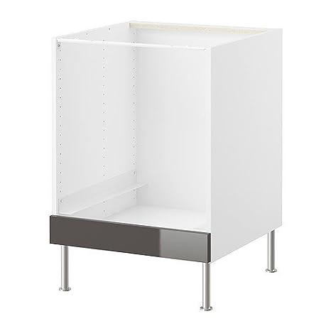 IKEA FAKTUM - Mueble bajo para horno, de Abstrakt gris - 60 cm ...