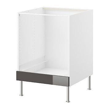 IKEA FAKTUM  Unterschrank Für Backofen Abstrakt Grau   60 Cm