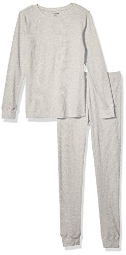 Amazon Essentials Women's Thermal Long Underwear Set, Heather Grey, X-Large