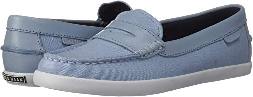 Cole Haan Women's Pinch Weekender Loafer Flat, Blue Canvas/Chambray, 7.5 B US