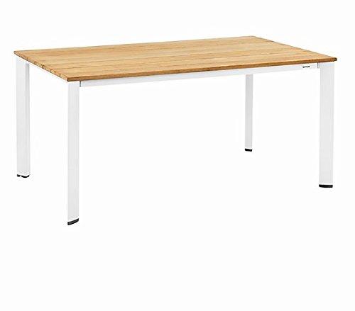 Kettler Lofttisch 160 x 95 cm, weiß/ teak Esstische