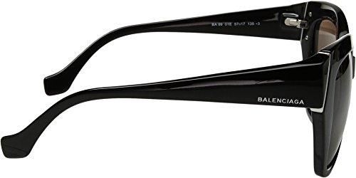 Lunettes de soleil Balenciaga BA0099 C57 01E (shiny black / brown)