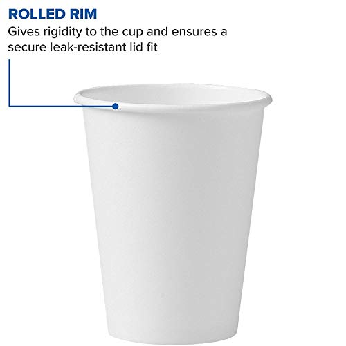 Solo 412WN-2050 12 oz White SSP Paper Hot Cup (Case of 1700) (12 oz (Case of 1700)) by Solo Foodservice (Image #1)