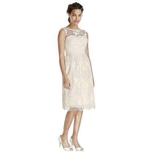 Melissa Style Doux Robe De Mariée De Réservoir De Thé Longueur Ms251118 Ivoire