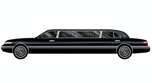 Pack of 12 Hollywood Movie Theme Jointed Black Limo Car Party Decorations 6' by Party Central