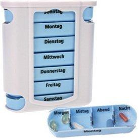 M&H-24 Medikamentendosierer, Pillendose, Pillenbox, Tablettendose, Tablettenbox, Wochendosierer, 7 Tage, 1 Stück