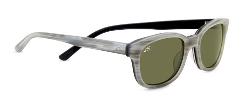 Serengeti Cosmopolitan Serena Sunglasses, Polarized 555nm, Crème Stripe Black by Serengeti