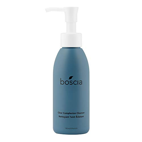 boscia Clear Complexion Cleanser - Daily Gentle Exfoliating Cleansing Gel Face Wash, 5 fl oz