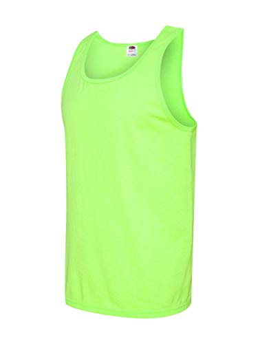 Fruit of the Loom Adult 5 oz. HD Cotton Tank XL NEON GREEN