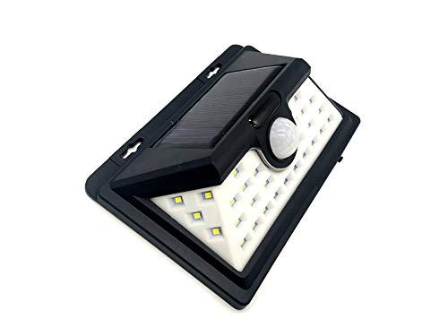 COOLMP – Set di 6 – Applique Solare da Parete LED rilevatore di Movimento, 16 cm, Nero