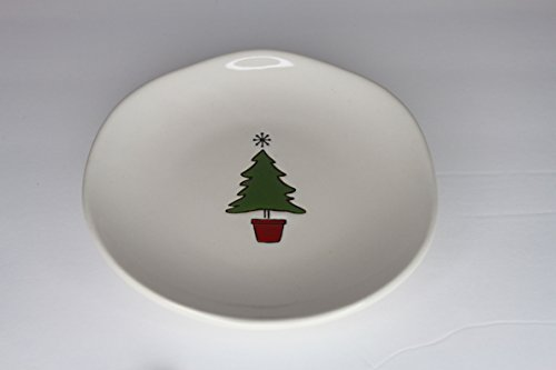Tag Stoneware Ceramic Plate Christmas Holiday Plate Set - Ch