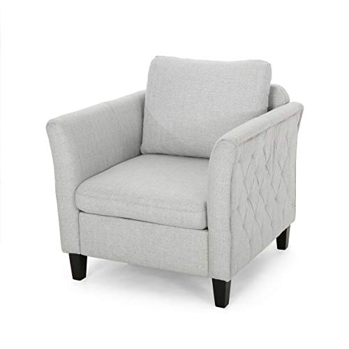 Christopher Knight Home 308281 Betty Traditional Fabric Club Chair, Light Gray, Slate, Dark Brown ()