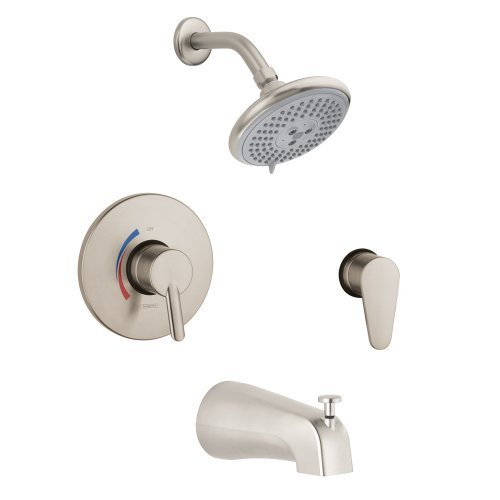 Focus Tub Spout (Hansgrohe 04465820 Focus S Shower System Combo, Brushed)