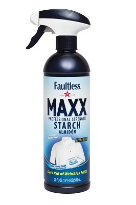 Faultless Maxx Trigger Pump Liquid Starch, Liquid Starch for Ironing, Makes Your Clothes New Again, Use as a Spray on Starch, Reduces Ironing Time with No Flaking, Sticking or Clogging (5 Pack, 20 Oz)