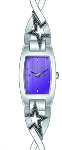 Thierry Mugler Women`s Purple Dial Stainless Steel Band Watch [4716103]
