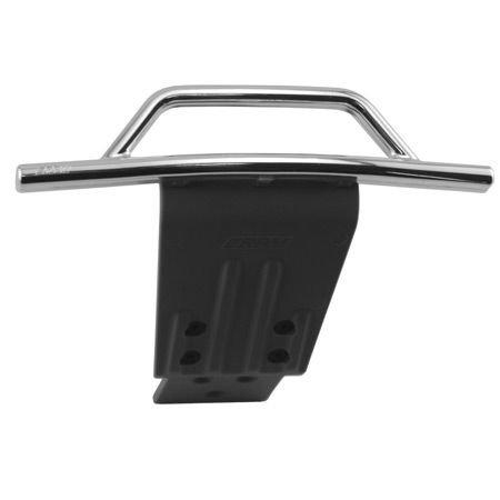 RPM Traxxas Slash 4x4 Front Bumper and Skid Plate, Chrome