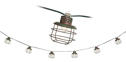 Outdoor Lantern String Lights Bronze - 7