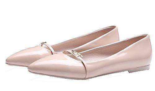 Basso Ballet Albicocca AgooLar Tacco Puro Scarpe Tirare Donna GMMDB006798 Punta Trafilatura A Flats wwFq0aSR