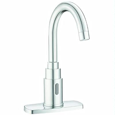 SLOAN 3362104 Battery Powered, Deck Mounted, IR Faucet with Gooseneck Spout