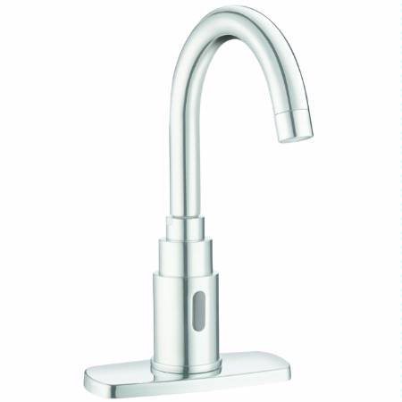 SLOAN 3362104 Battery Powered, Deck Mounted, IR Faucet with Gooseneck ()