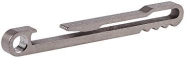 Baiyao - Llavero de aleación de titanio con clip para cinturón, cierre rápido, hebilla para colgar sacacorchos B