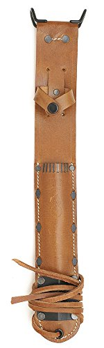 - US M6 Leather Sheath for M3 Trench Knife Premium Drum Dyed Leather