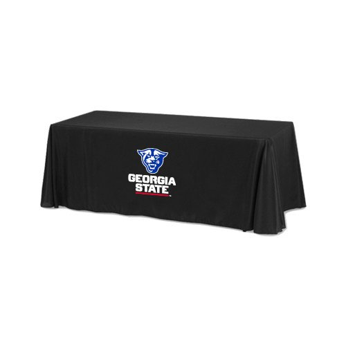 Georgia State Black 6 foot Table Throw 'Official Logo' by CollegeFanGear