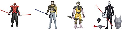 "Star Wars Hero Series 12"" Darth Maul, Kanan, Garrazeb ""Zeb"" Orrelios & Inquisitor Figure Bundle"
