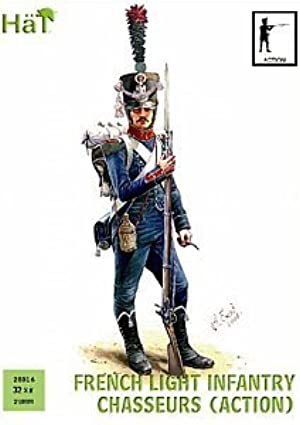 Napoleonic French Chasseurs Action (32) 1/56 Hat by Hat
