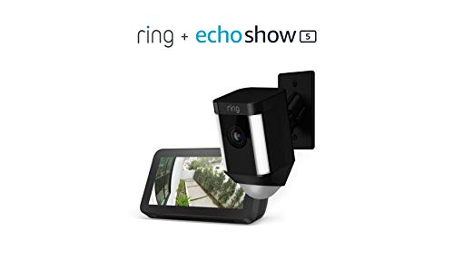 Ring Spotlight Cam Mount (Black) with Echo Show 5 (Charcoal)