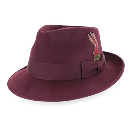 Belfry Gangster 100% Wool Stain-Resistant Crushable Dress Fedora